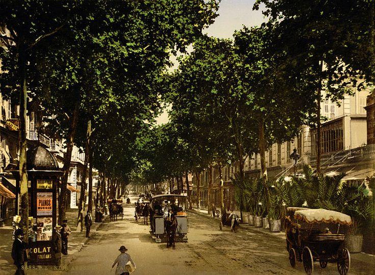 Avenue de la Gare, Nice, France, 1890-1900.