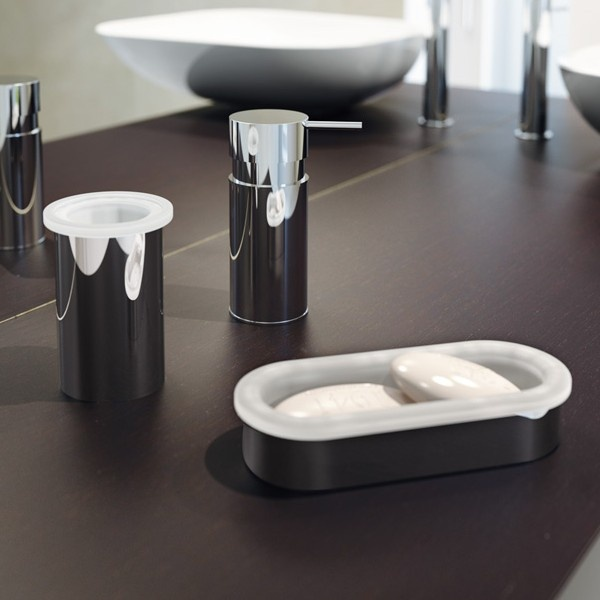 On Top Bathroom Accessory Set Includes Soap Dish Toothbrush Holder