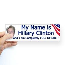 Anti Hillary Clinton Posters | Anti Hillary Clinton Bumper Stickers | Car Stickers, Decals, & More