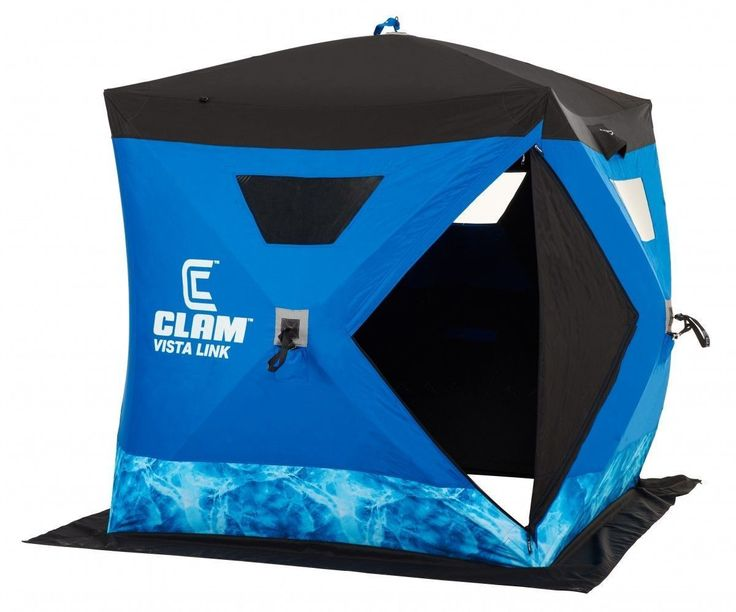 Tents and Shelters 72670: New Clam Outdoors 10133 Vista Link 2-3 Anglers Ice Fishing Shelter (6 X 6 Hub) -> BUY IT NOW ONLY: $249 on eBay!