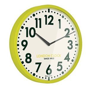 London Clock 1922 - Retro Collection - Limelight - Lime Wall Clock