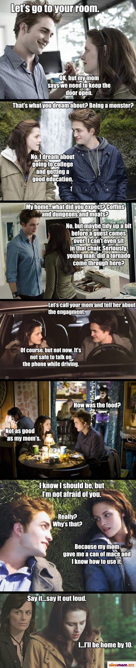 if twilight was written by an average mom....because anything would be an improvement at this point.