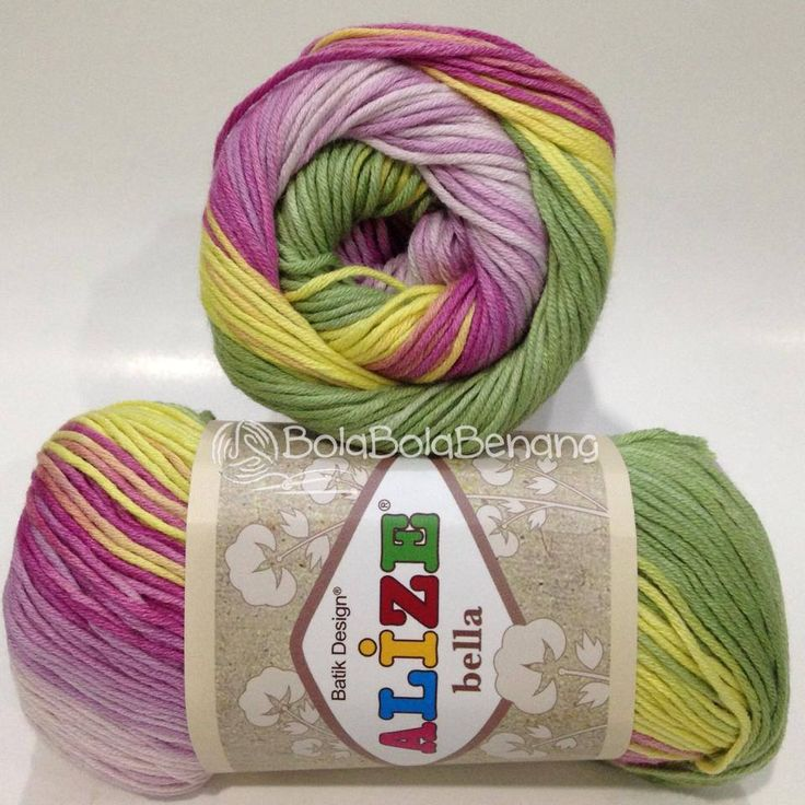 Alize Bella Batik 4591, Price: Rp.65.000,- /gulung, Bahan: 100% COTTON, Berat/Panjang: 50gram/180mt, Knitting Needles: 2mm - 4mm, Crochet Hook: 1mm - 3mm