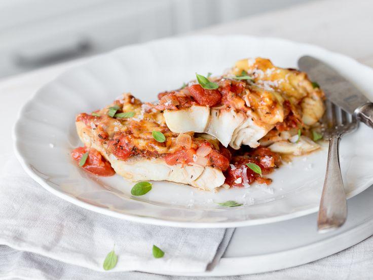 Tomatig, käsig, gut: Seelachsfilet italiano