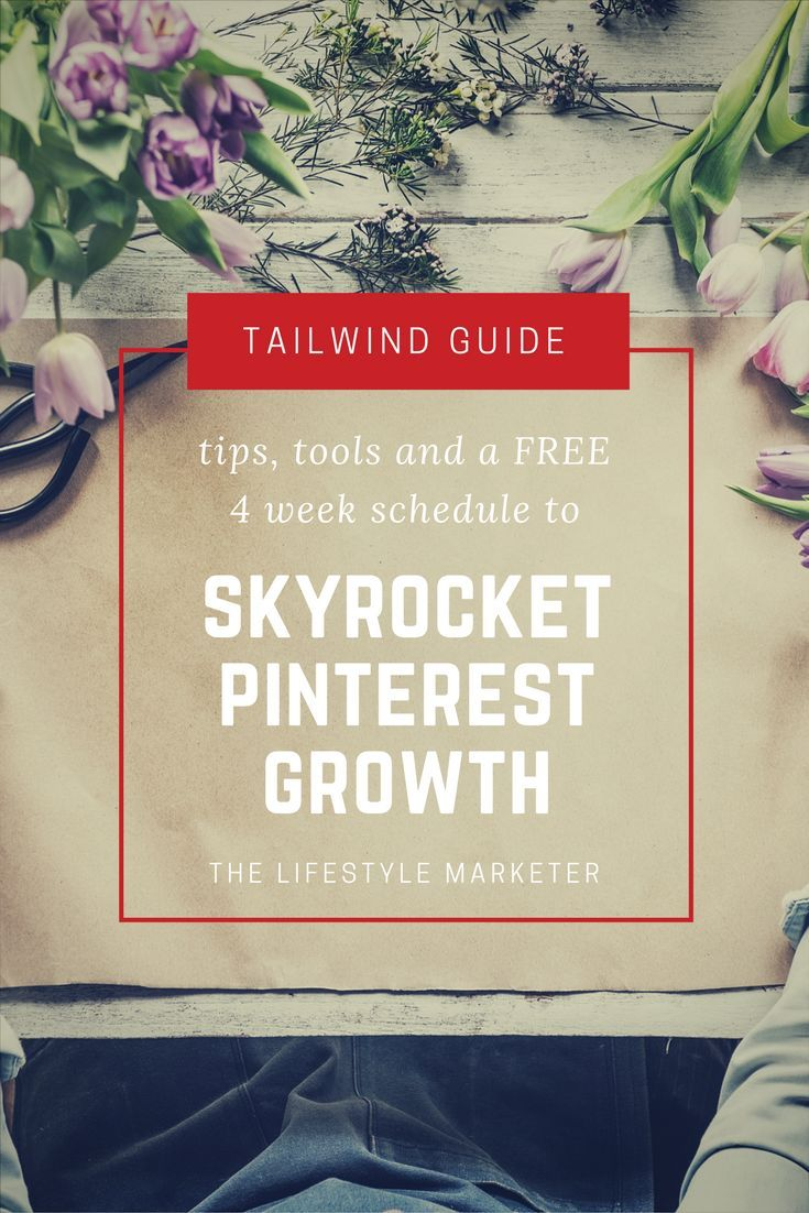 Everything you need to skyrocket your #Pinterest growth! Perfect for bloggers, small businesses and entrepreneurs. Learn how to gain followers and get your audience to your website. Includes a free #infographic 4 week schedule on how to utilize #Tailwind.