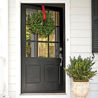 Best 25 farmhouse front doors ideas on pinterest for Exterior back door styles