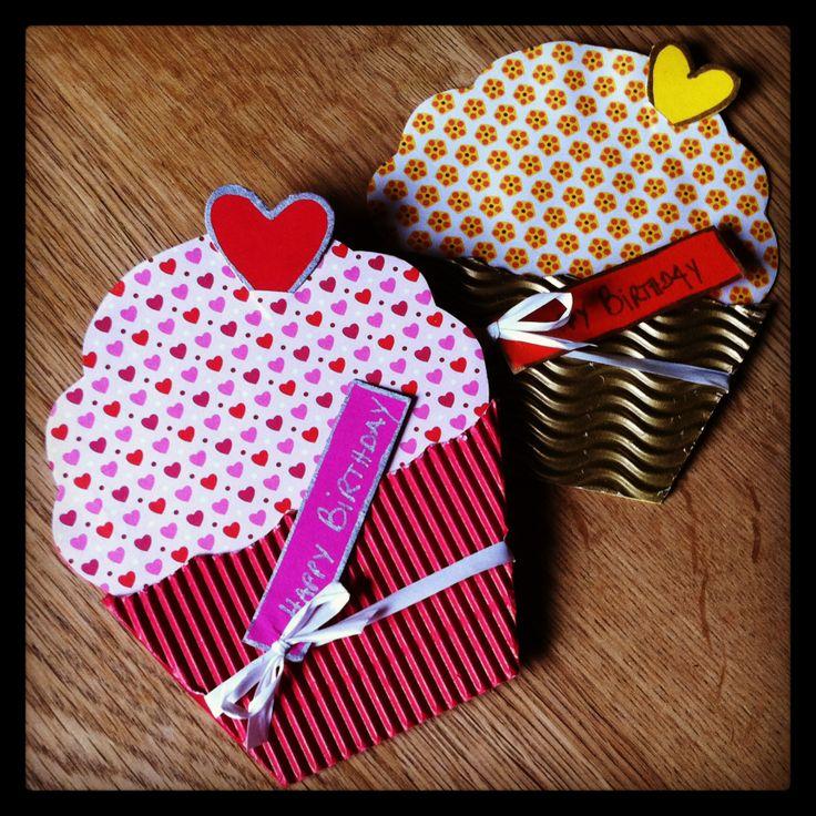 Carte d'anniversaire *DIY* Cupcakes