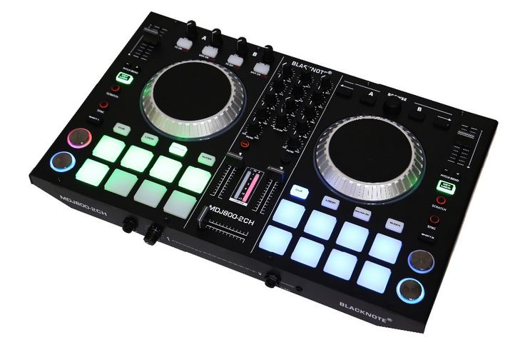 BLACKNOTE DJ MIDI controller to play players playing disc audio mixing console players sound mixer mesa de mezclas dj .DJ mixer