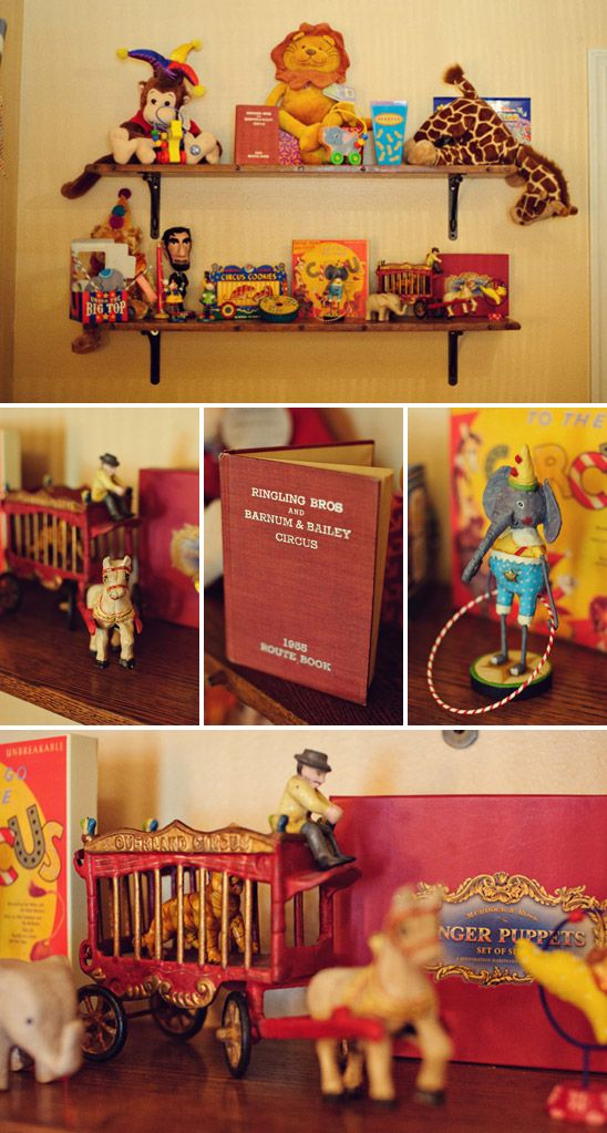 Just dreaming :)   A vintage circus nursery, perfect for a boy...could I do this for Spencer when we transition into a toddler bedroom. :) He does LOVE Dumbo!!