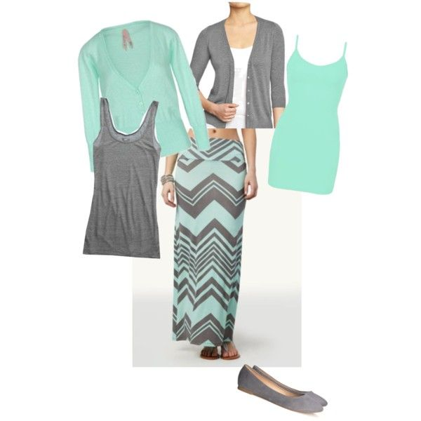 Mint & Gray, created by holiness-preachers-wife on Polyvore