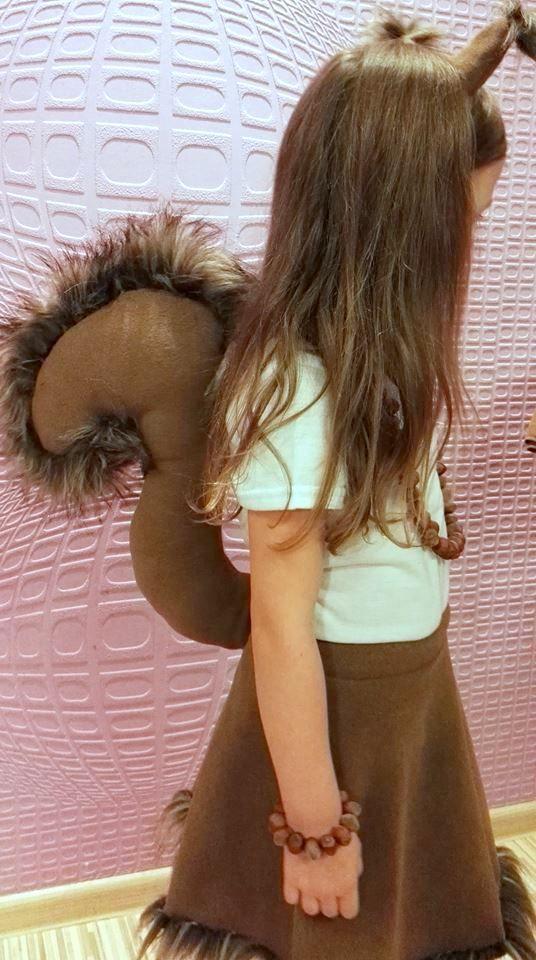 Handmade squirrel girl costume
