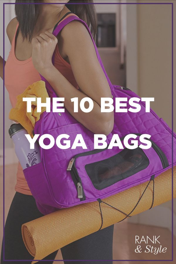 "Everybody say ""OM"" and get these top ten yoga bags before your next warrior pose! #rankandstyle"
