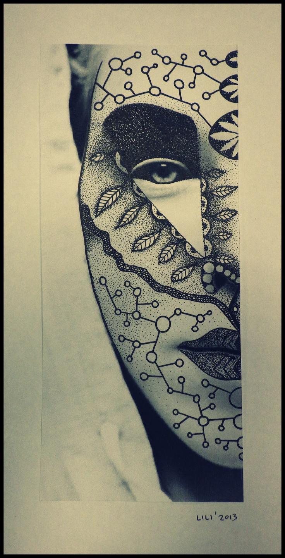 dotwork art , self portrait