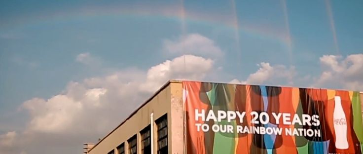 Coke Makes Real Rainbows in Johannesburg to Celebrate 20 Years of Democracy