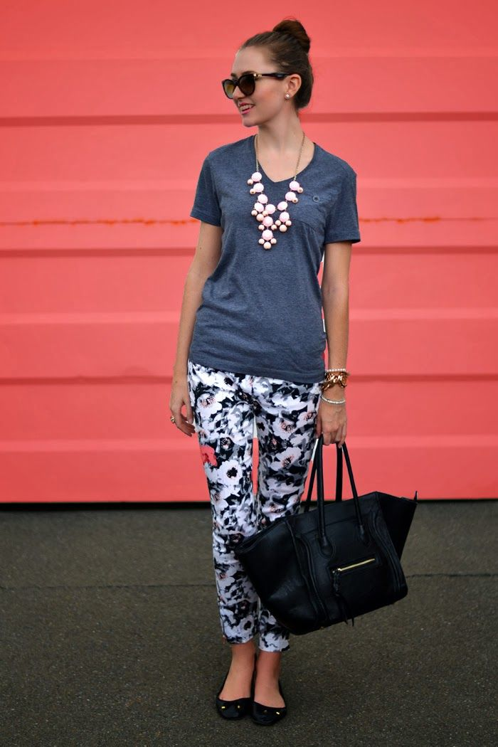 Spring outfit: floral print pants