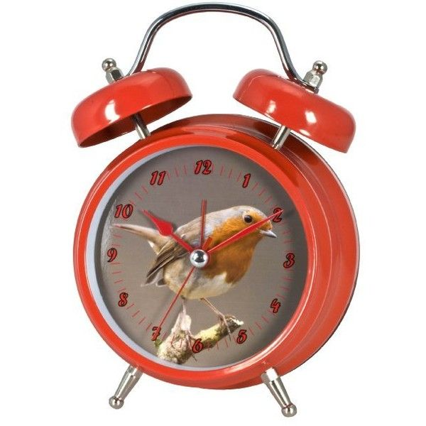 Zeon Twin Robin Bell Alarm Clock (€14) ❤ liked on Polyvore featuring home, home decor, clocks, bell alarm clock, traditional alarm clock, bird alarm clock, bird clock and traditional home decor