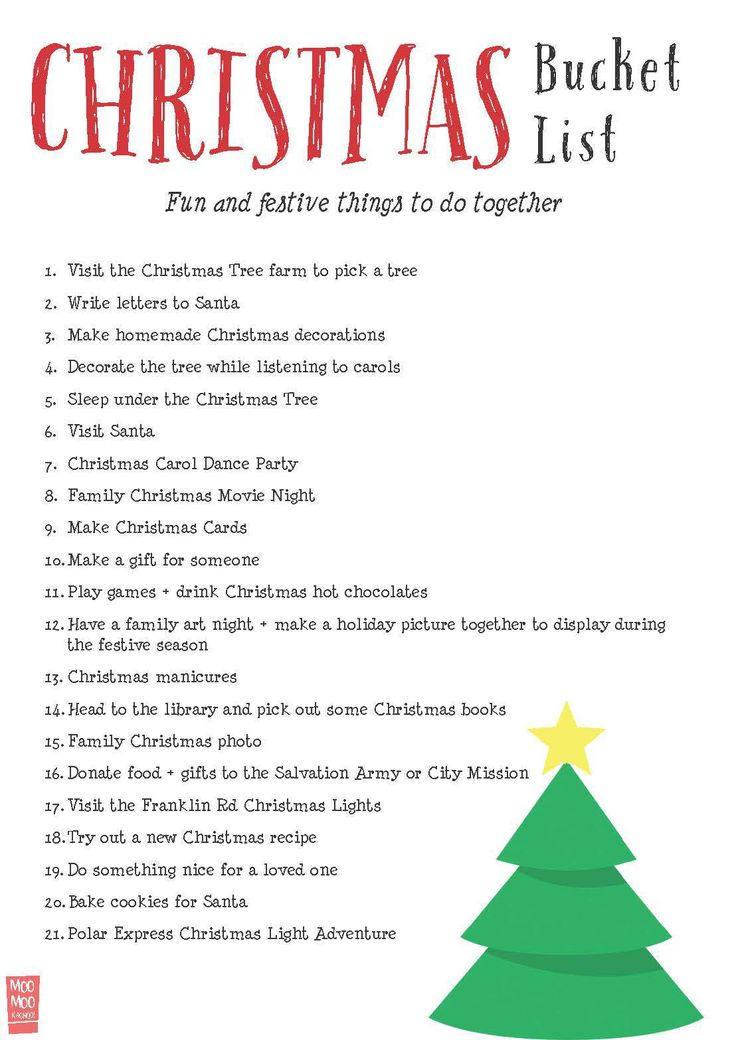 Christmas Bucket List | Fun + Festive Things to Do Together | Moomookachoo