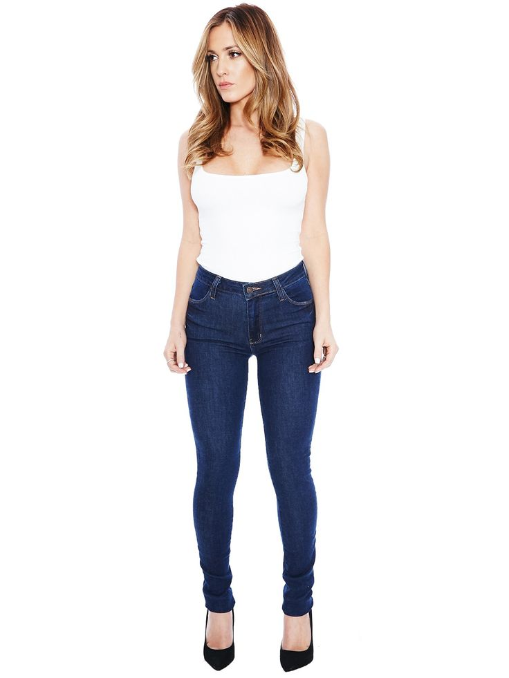 Anything But Blue Skinnies - Womens Nakedwardrobe