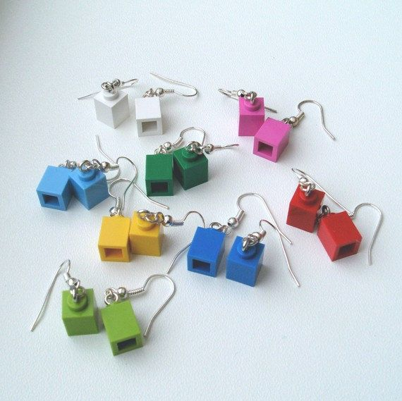 Lego jewelry Legos  earring set/Choose your by OaktopiaDesign, $6.00