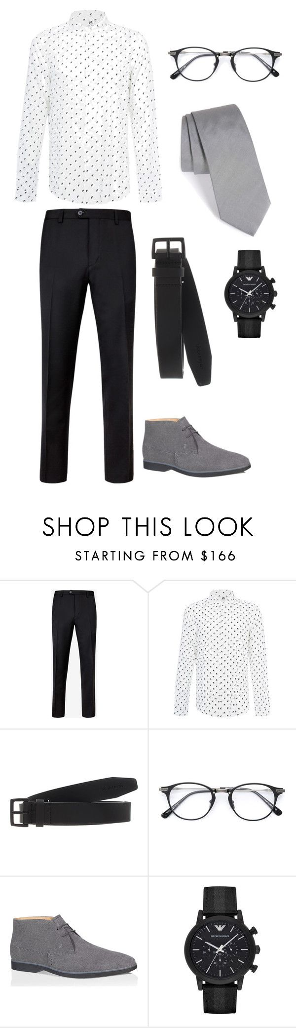 """Look 2 - WILSONS"" by kirravanblanken on Polyvore featuring Ted Baker, PS Paul Smith, Dsquared2, Tod's, Emporio Armani, Lanvin, men's fashion and menswear"