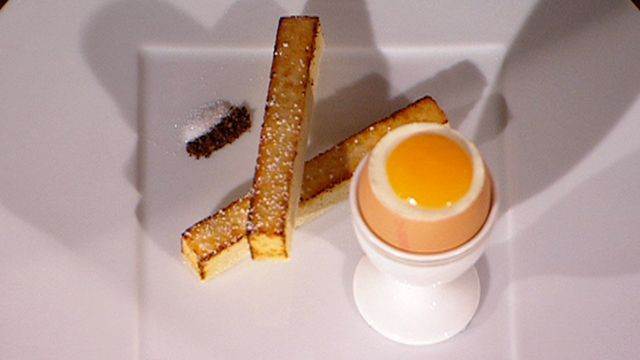 """Martin Blunos, Martin Blunos has earned no less than four Michelin Guide Stars, two for each of his restaurants making him one of the highest awarded stars of his great profession.  One of his creations, the """"boiled egg and soldiers"""" dessert, made famous on Masterchef Australia."""