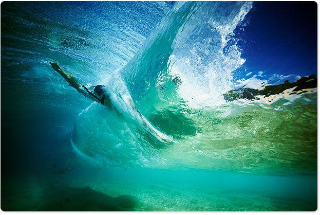 Under the waves. Bondi.