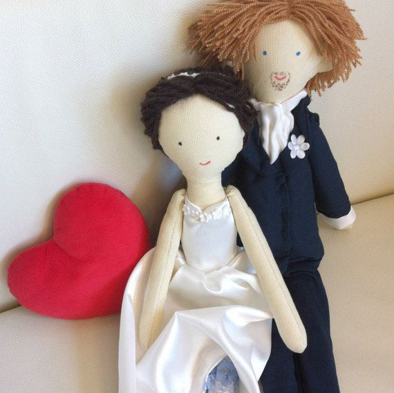 Handmade custom wedding dolls made by photo bride by apacukababa