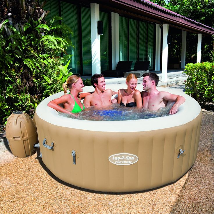 LayZSpa Palm Springs Inflatable Hot Tub Spa Review