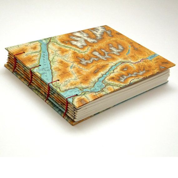 This Scottish Map Journal with Ben Nevis, Fort William and Ardnamurchan would make a fabulous gift for anyone who loves maps, Scotland, mountains