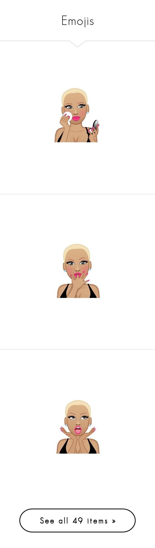 """""""Emojis"""" by duhhqueen ❤ liked on Polyvore featuring muvamoji, emoji, extras, pictures, text, filler, phrase, quotes, saying and emojis"""