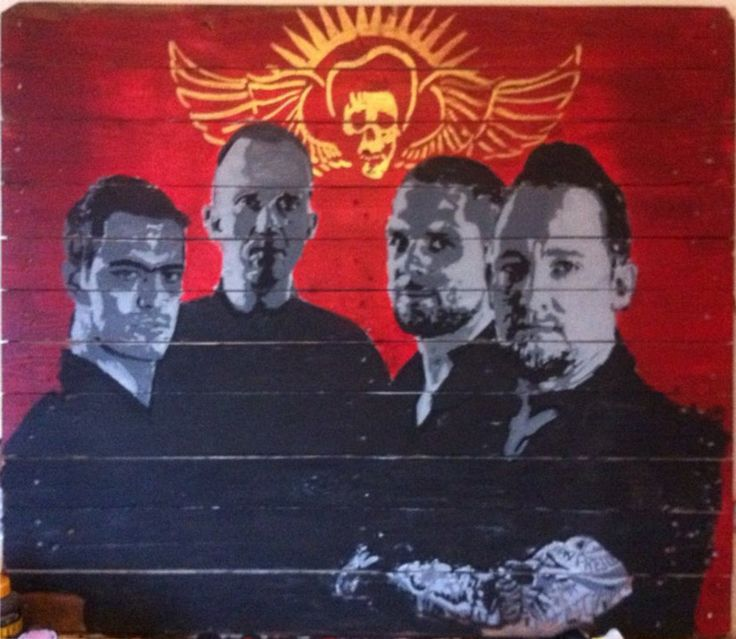 VOLBEAT, on pallets by Marie Prokoepk