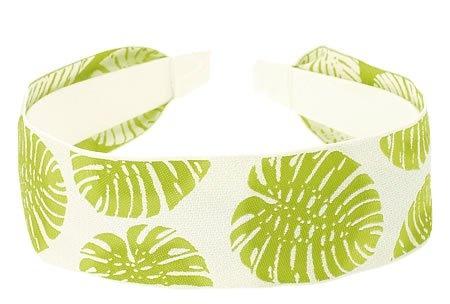 L. Erickson USA Ribbon Headband - Philo Leaf White/Lime $52.00