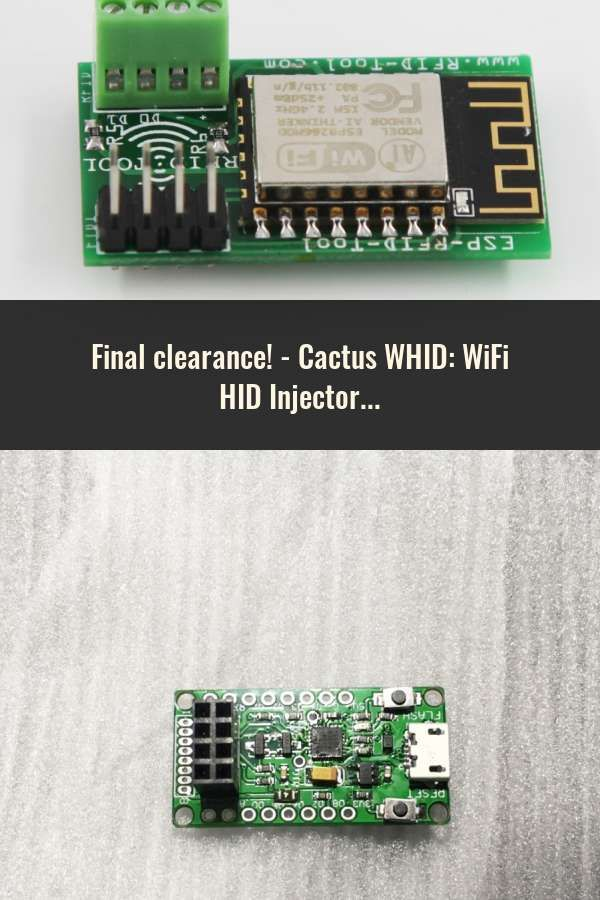 Cactus WHID: WiFi HID Injector USB Rubberducky | Smart Card System