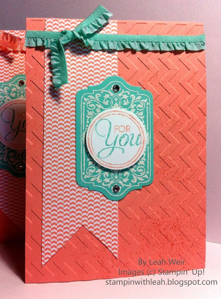 Stampin' With Leah : Thank You Card.