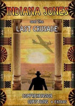 This 7 page movie guide is for the movie 'Indiana Jones and the Last Crusade'     PART 1 - There are 30 comprehension questions in chronological order. It's important that during the movie students make notes on important events.    PART 2 – This is about creativity by planning the rescue of Indy's father from Castle Brunwald.