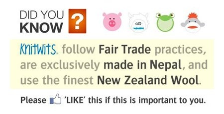 Knitwits by deLux follow Fair Trade practices, are exclusively made in Nepal, and use only the finest Wools of New Zealand!