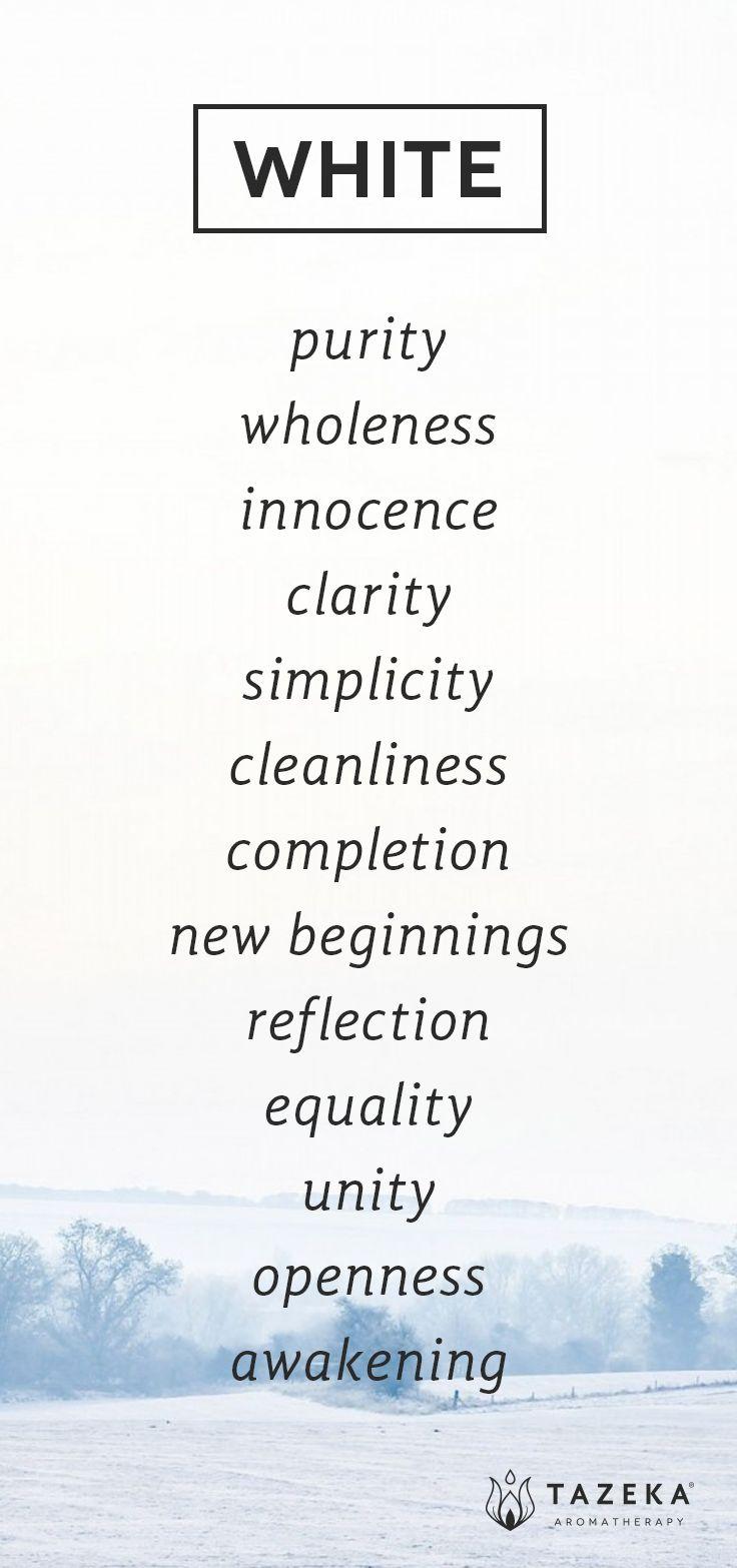 White Color Psychology http://www.tazekaaromatherapy.com