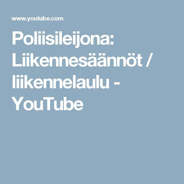 Poliisileijona: Liikennesäännöt / liikennelaulu - YouTube