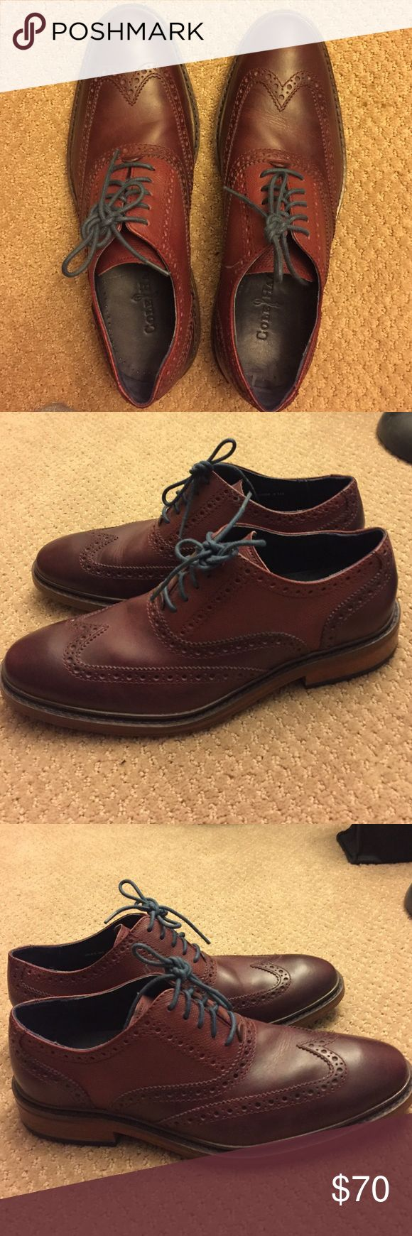 Cole Haan Great Jones Wingtip Oxford Cole Haan Great Jones wingtip oxfords for sale! Shoes are in like-new condition and come in the sequioa color. Cole Haan Shoes Oxfords & Derbys