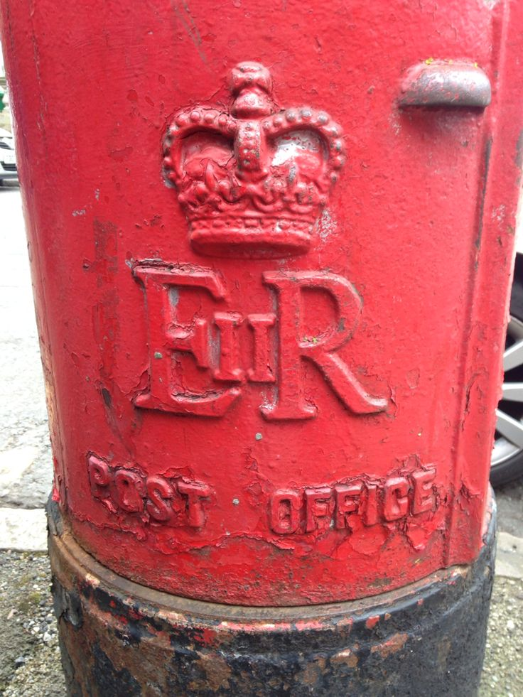 Post box near the forest recreation ground