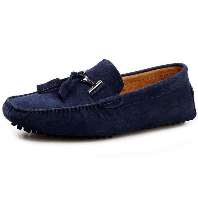Buy now Brand Men Casual Loafers Tassels 2017 NEW Fashion Mens Genuine Leather Shoes Driving Moccasins Homme 250-275mm just only $32.99 with free shipping worldwide  #menshoes Plese click on picture to see our special price for you