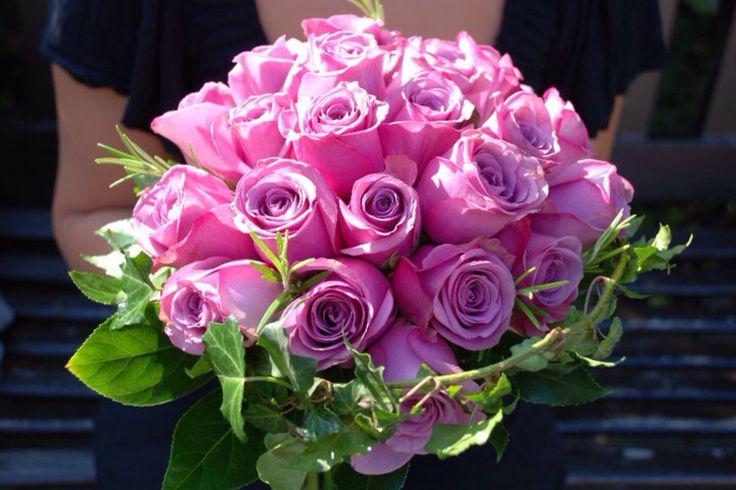 Beautiful pink rose bridal bouquet