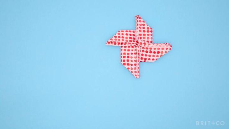 How to DIY a Pinwheel Napkin Fold
