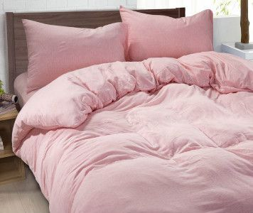 100% Linen Pink Duvet Cover, Pink Bedding Set | Handcrafted by Superior Custom Linens
