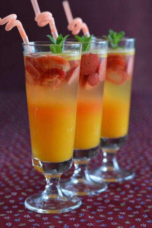Niet-alcoholische aardbei oranje