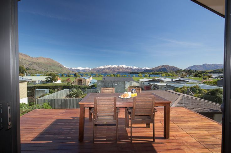 The upper lounge opens straight onto this spectacular view.  You will instantly feel as though you are immersed in the Mt Aspiring National Park.
