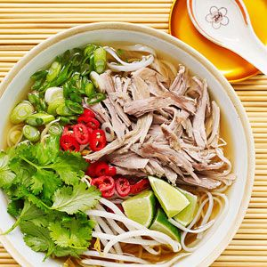 Pork Pho (Vietnam)  For recipe refer to: http://www.familycircle.com/recipes/ethnic/ethnic-food/#page=6