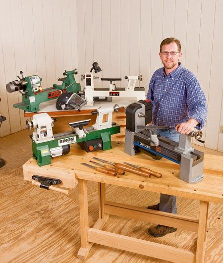 Chris Marshall and four benchtop lathes