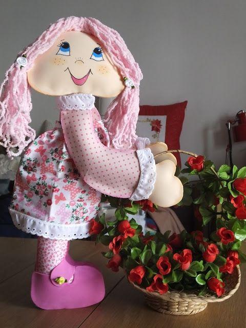 NatuReciclArt: Muñeca primavera con cestita