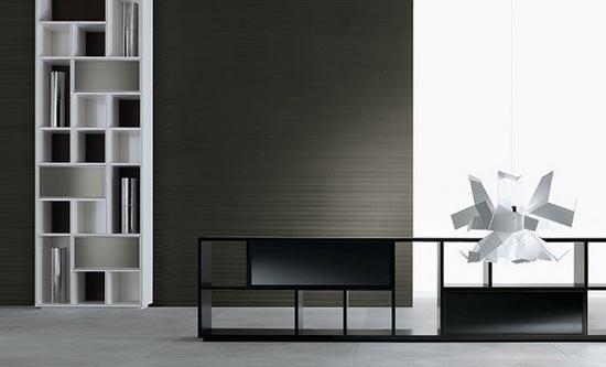 Contemporary Opus Bookcase Design from Rimadesio